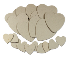 BA228 Die Cut Card Hearts
