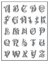 TSMP045<br>Fancy Alphabet<br>Stamp